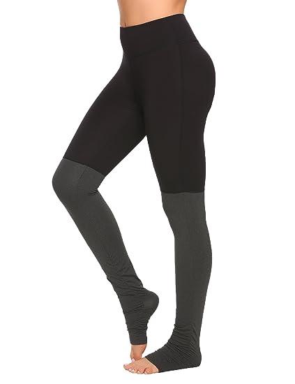 520176b32d Women's Mid Rise Yoga Leggings The Heel Yoga Pants Patchwork Stirrup Tights  Gym Yoga Workout Pants