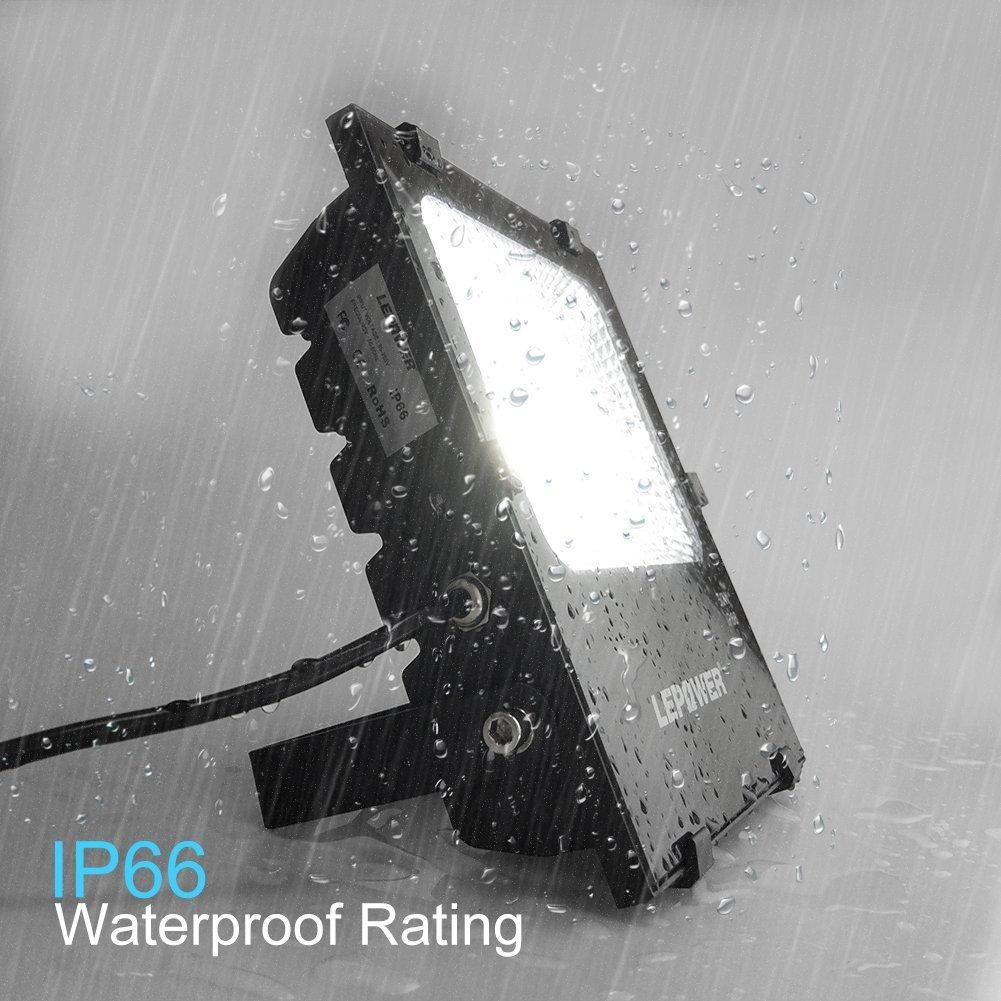 LEPOWER 2 Pack 150W New Craft LED Flood Light, Super Bright Outdoor Work Light, 750W Halogen Bulb Equivalent, IP66 Waterproof, 11000lm, 6500K, Led Flood Light Outdoor(150W White Light) by LEPOWER (Image #4)