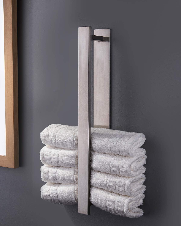 ZUNTO Handtuchhalter Ohne Bohren Gästehandtuchhalter Edelstahl Handtuchstange Selbstklebend 40 cm