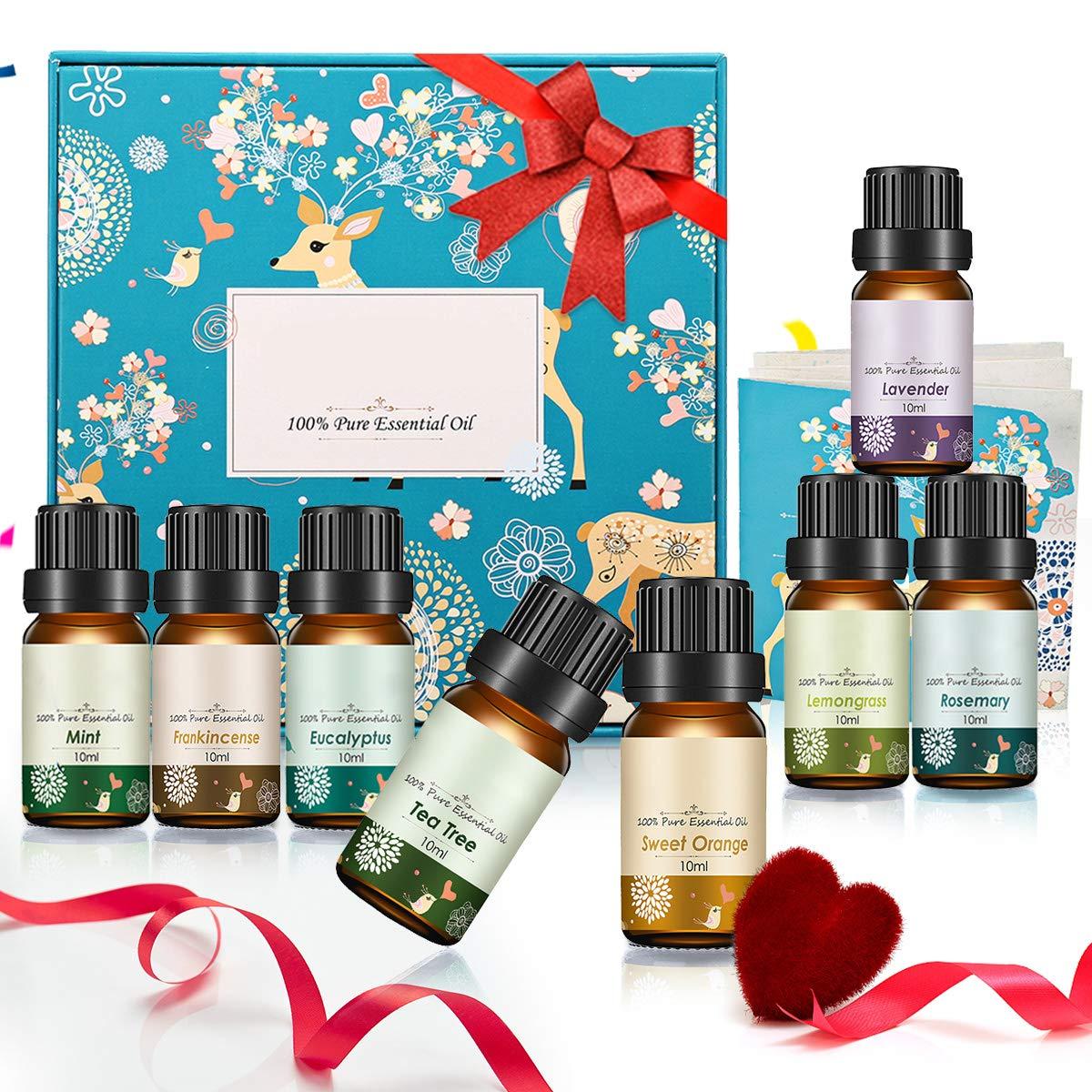 96696de02 Janolia Aceites Esenciales, de Plantas Naturales para Aromaterapia, Set de  Navidad Eucalipto, Hierba