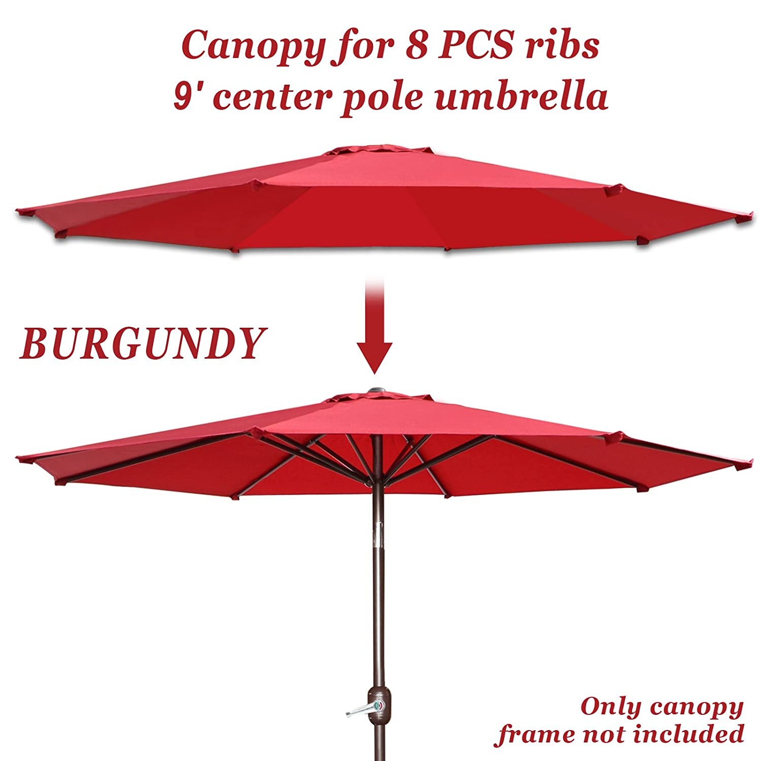 Amazon Replacement Patio Umbrella Canopy Cover for 9ft 8