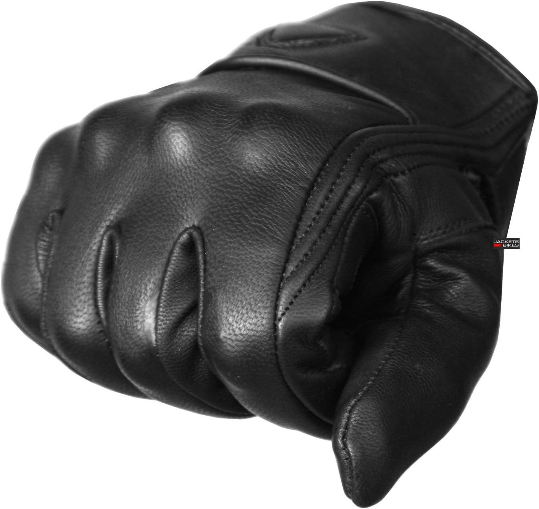 Premium Leather Mens Street Motorcycle Protective Cruiser Biker Gel Gloves S