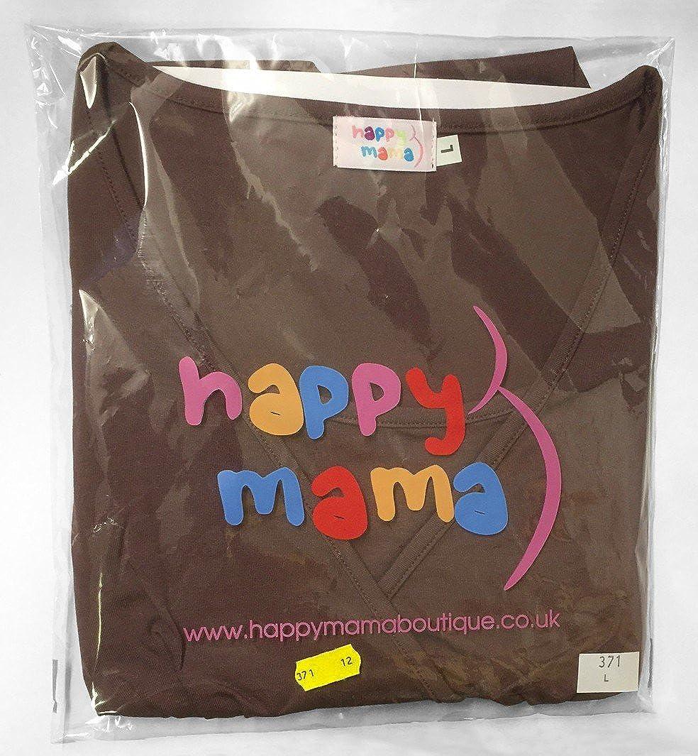 Happy Mama Damen Umstandsmoden Top Stillshirt Lagendesign Empire-Taille 945p