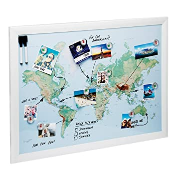 World map magnetic whiteboard maps to draw pin and amazon world map magnetic whiteboard maps to draw pin and plan your travels 60x80cm gumiabroncs Gallery