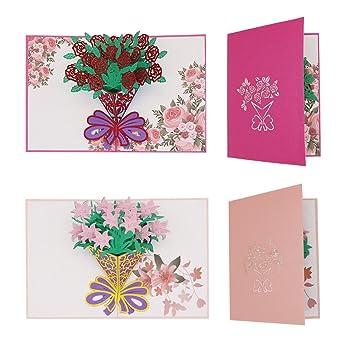 Tenn Outdoors Bien 3d Pop Up Cartes De Visite Rose Et Lily
