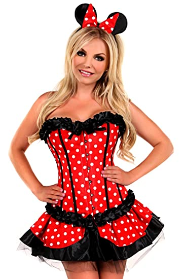 3c2b85e9f Daisy corsets Women s 3 Piece Miss Mouse Costume