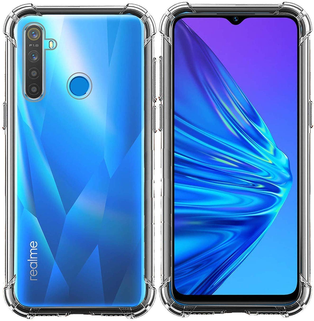 Jain Impex Mobile Cover for Realme 5i Transparent Soft: Amazon.in