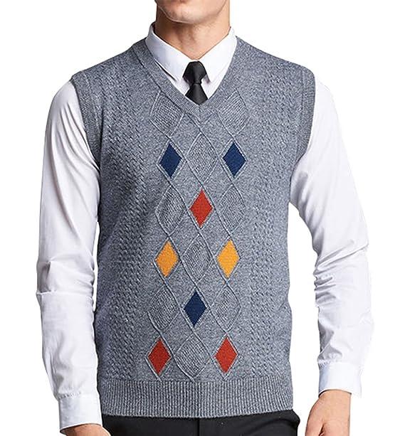 748750723b445 Lyamazing Men s Sleeveless Argyle Sweater Vest at Amazon Men s Clothing  store