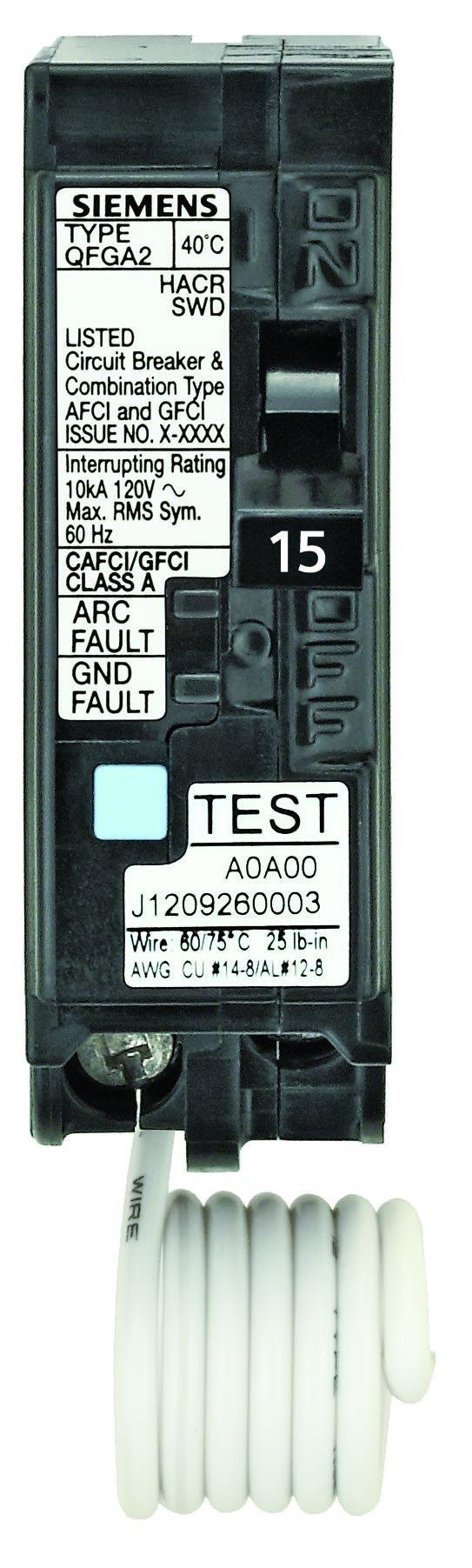 Siemens Q115DFP 15 Amp Dual Function AFCI/GFCI Breaker
