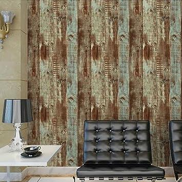 WANGHH Retro Nachahmung Holz Tapete Wohnzimmer Studie Lounge Tapete ...