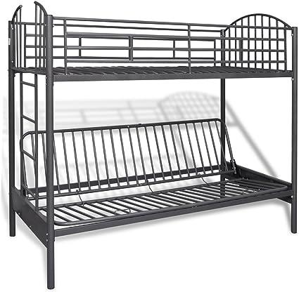 Anself Litera Stock cama para niños de hierro con metal ...
