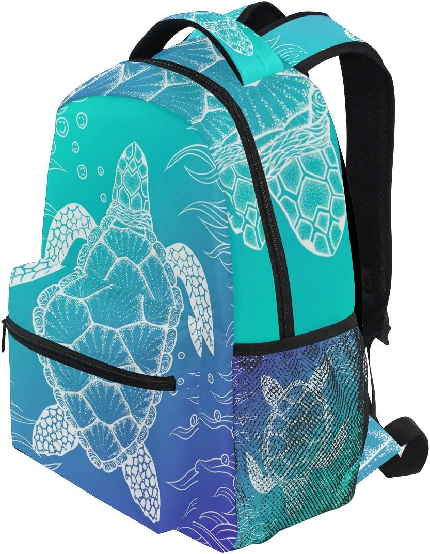 School Backpack Sea Water Ocean Clear Wave Student Rucksack Boys Girls Daypack