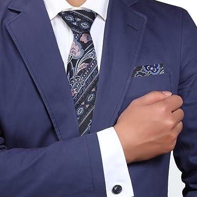 Y&G H5005 Idea Gray Paisley Moda regalo para el novio corbata de ...