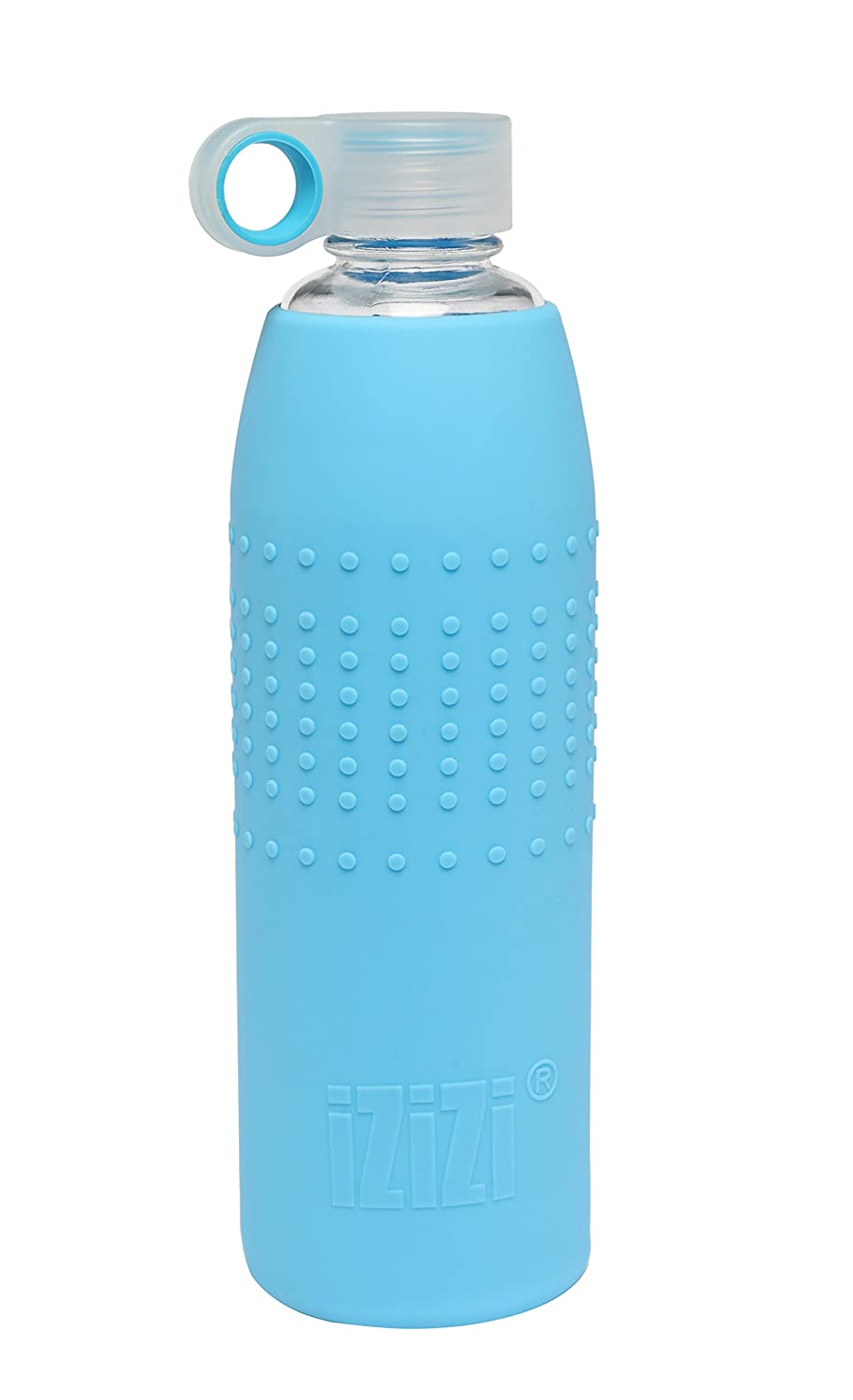 b85f141999 Izizi Glass Bottle with Silicone Sleeve, 1 liter/9 cm, Blue: Amazon.in:  Home & Kitchen