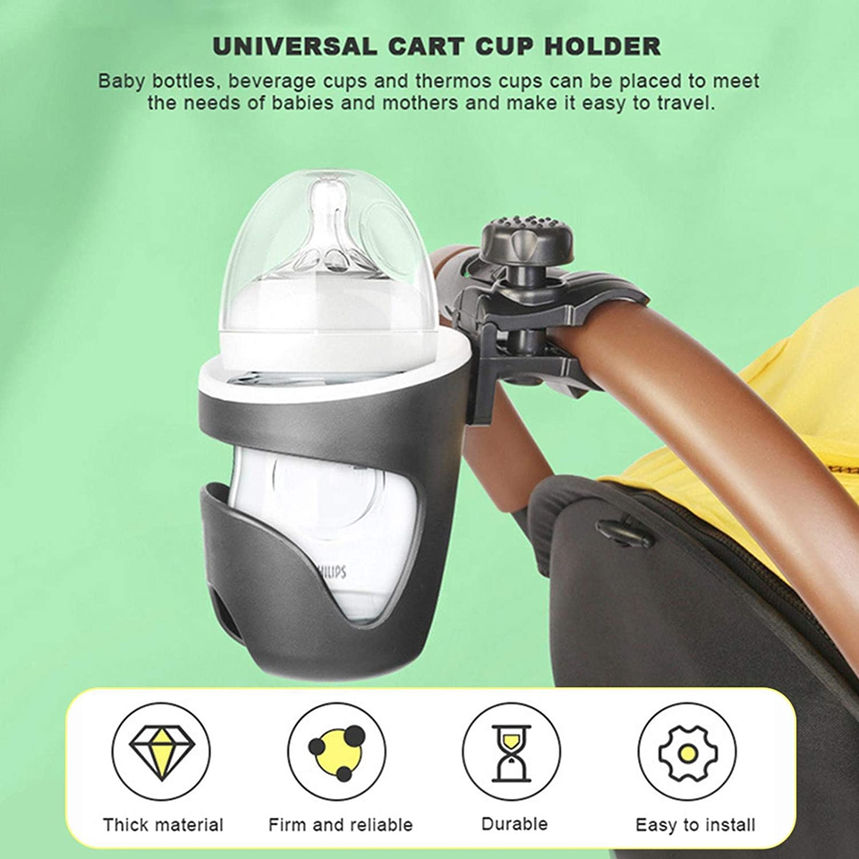 Pram Cup Holder Stroller Cup Holder Universal Stroller Bottle Holder Coffee Drink Bottle Organizer For Pushchair Baby Buggy Trolley Walker Bike Wheelchair Pet Strollers