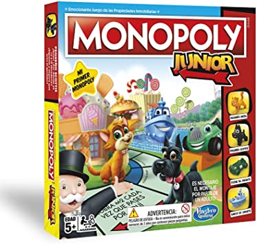 Monopoly- Junior (Versión Portuguesa) (Hasbro A6984PT4): Amazon.es: Juguetes y juegos