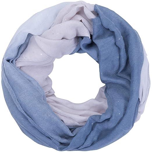 Halstuch Schaltuch Tuch mit Federmotiv in verschiedenen Farben Ferdern blau gelb