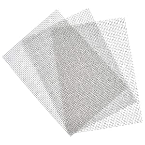 "TIMESETL 3 Pcs Stainless Steel Woven Wire 5 Mesh - 12"" x 8""(30x21cm) Metal Security Guard Garden Screen Cabinets Mesh"