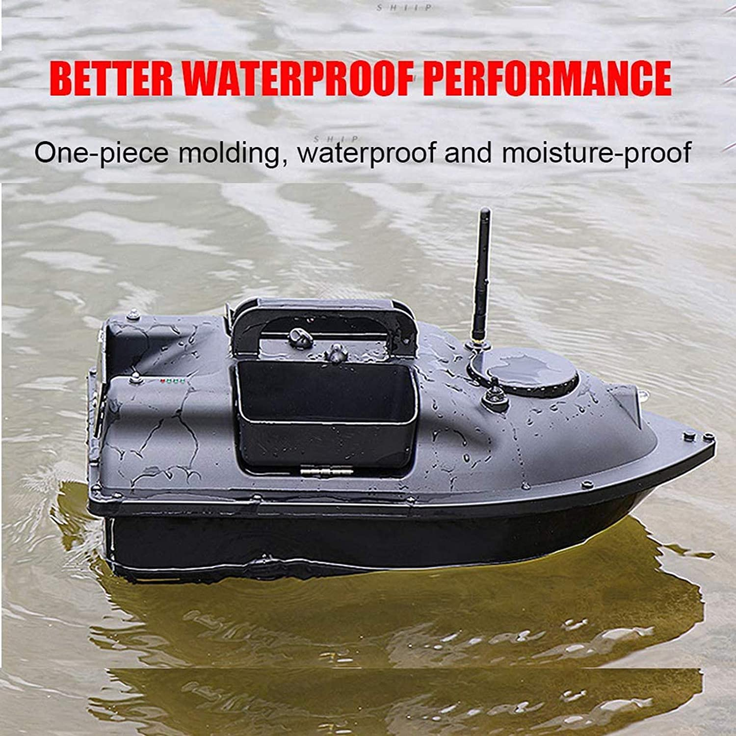 GPS Fishing Bait Boat with 1//2//3 Hoppers,GPS Fishfinder,Carry Bag,Li-ion Battery