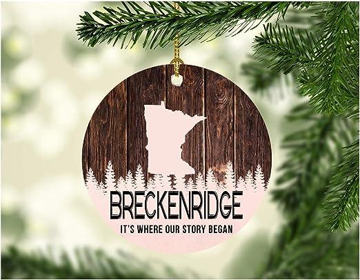 Amazon.com: Christmas Tree Ornament 2020 Breckenridge Minnesota