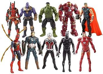 Buy Marvel Avengers 2019 10 pcs Action Figure End Game Iron Man ...