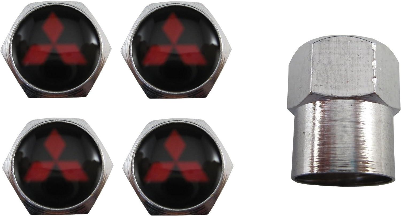 ETMA Valvulas rueda coche Acero inoxidable Compatible Con Mitsubishi Negro aut010-28