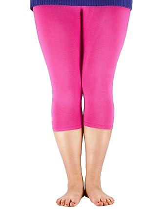 aa946bb8ebdf7 Zando Women s Ultra Cropped Leggings Elastic Cool 3 4 Length Yoga 3XL (US L