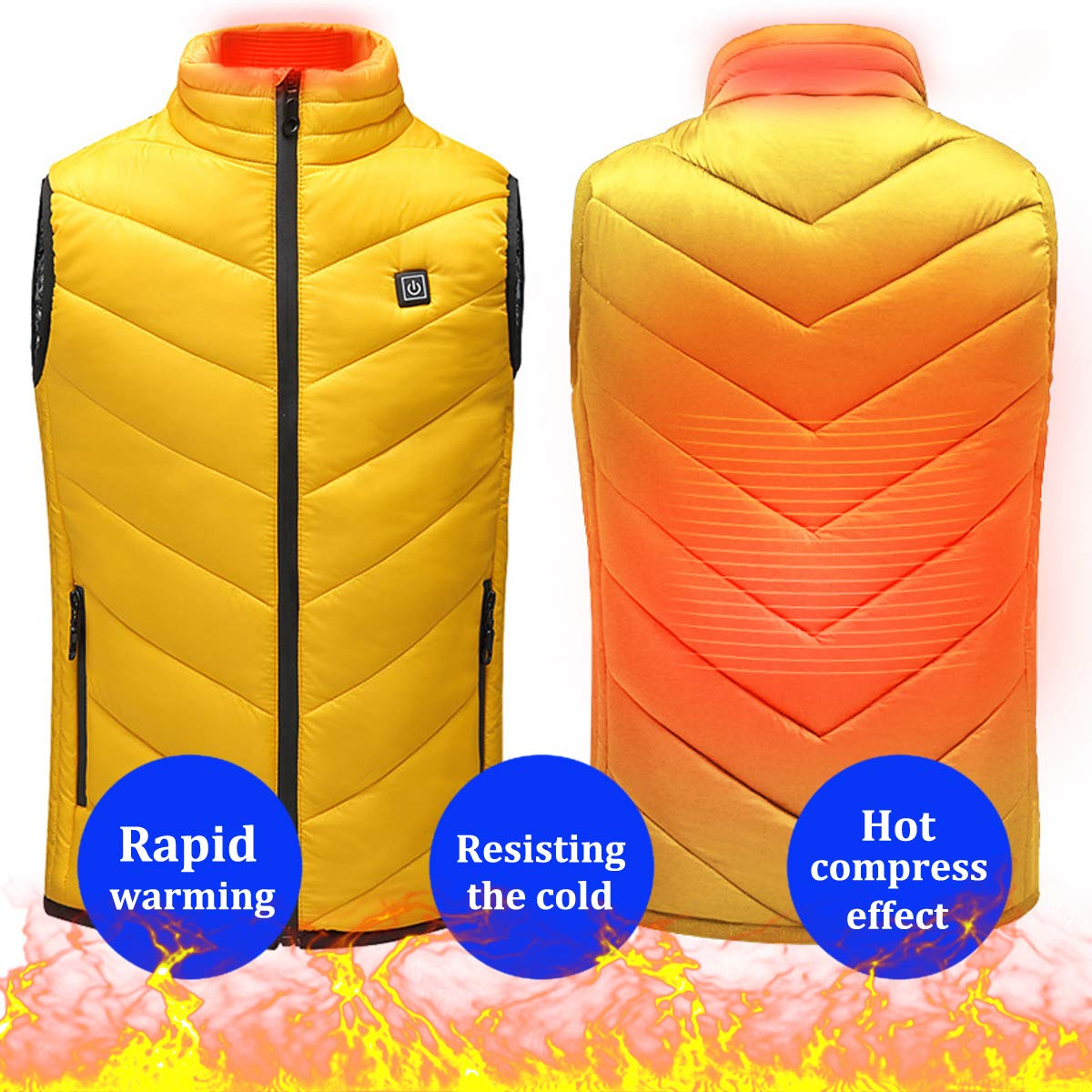 Packing Not Include Power Bank Sidiou Group Electric Heated Vest USB Children Heated Clothing Adjustable Temperature Heated Gilet Rechargeable Heating Waistcoat Down Jacket Vest