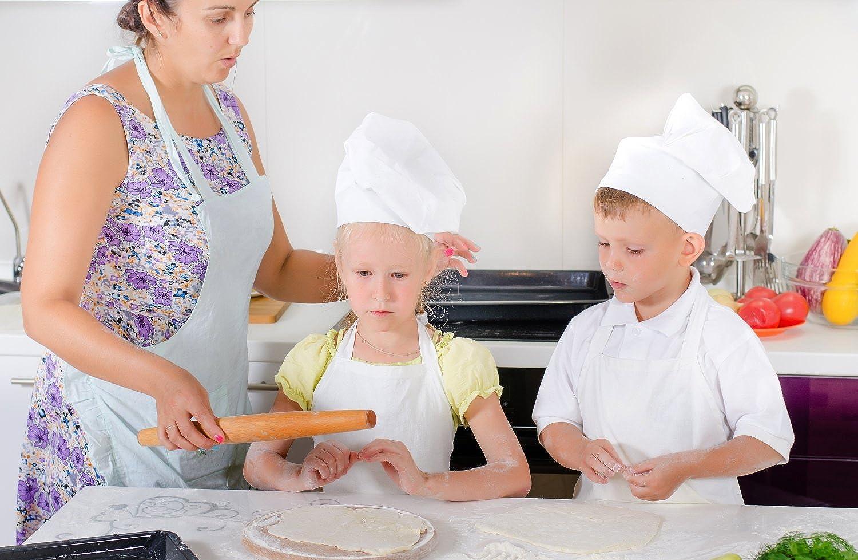 Amazon.com: Chefocity Kids Apron and Chef Hat Set. Adjustable Hat ...