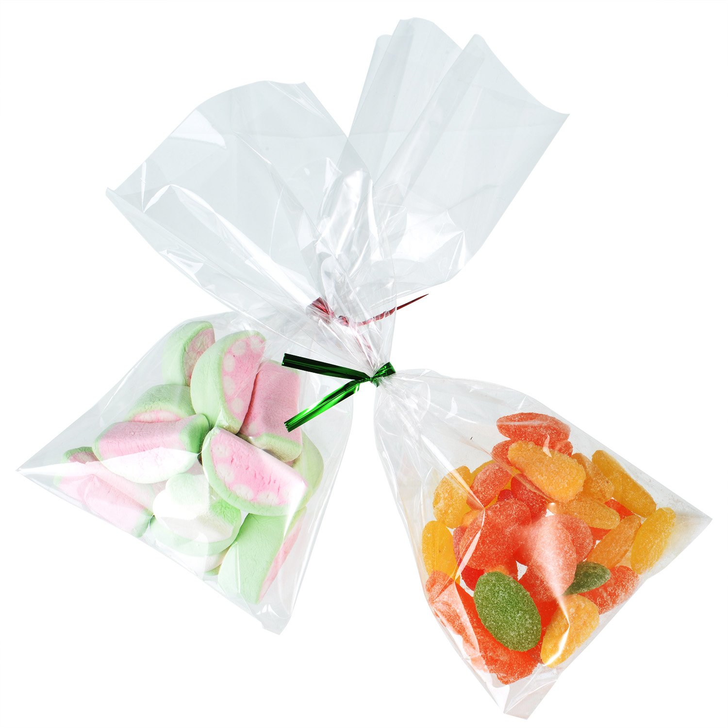 Amazon.com: Outus 300 Pack Clear Treat Bags Clear Cello Bags with ...