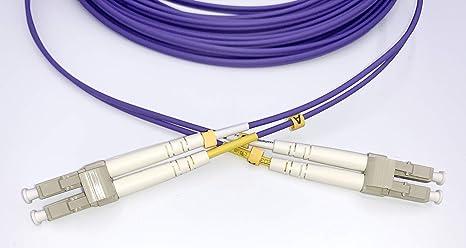 Elfcam Fibra /óptica Cable LC//UPC a LC//UPC OM4 Multimodo Duplex 50//125um LSZH 3M