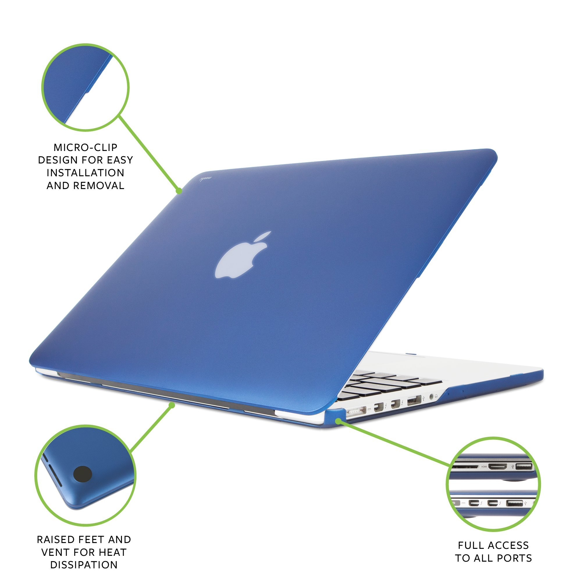 Moshi iGlaze Hard Case for MacBook Pro Retina 13'' (2012-2015) (Indigo Blue) by Moshi (Image #2)