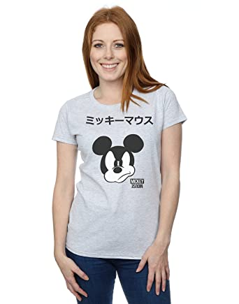 87c227ea Amazon.com: Disney Women's Mickey Mouse Japanese T-Shirt: Clothing