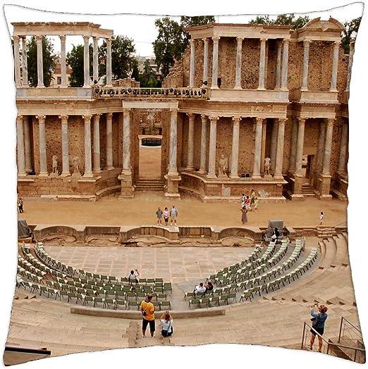 Teatro romano de Mérida, España - Funda de cojín (18: Amazon.es: Hogar