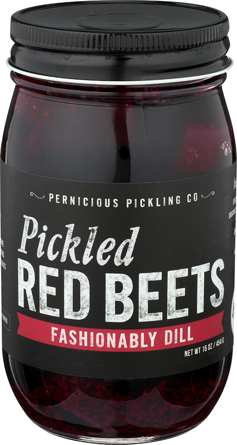 Pernicious Pickling Co, Pickled Red Beets Fashionably Dill, 16 Ounce