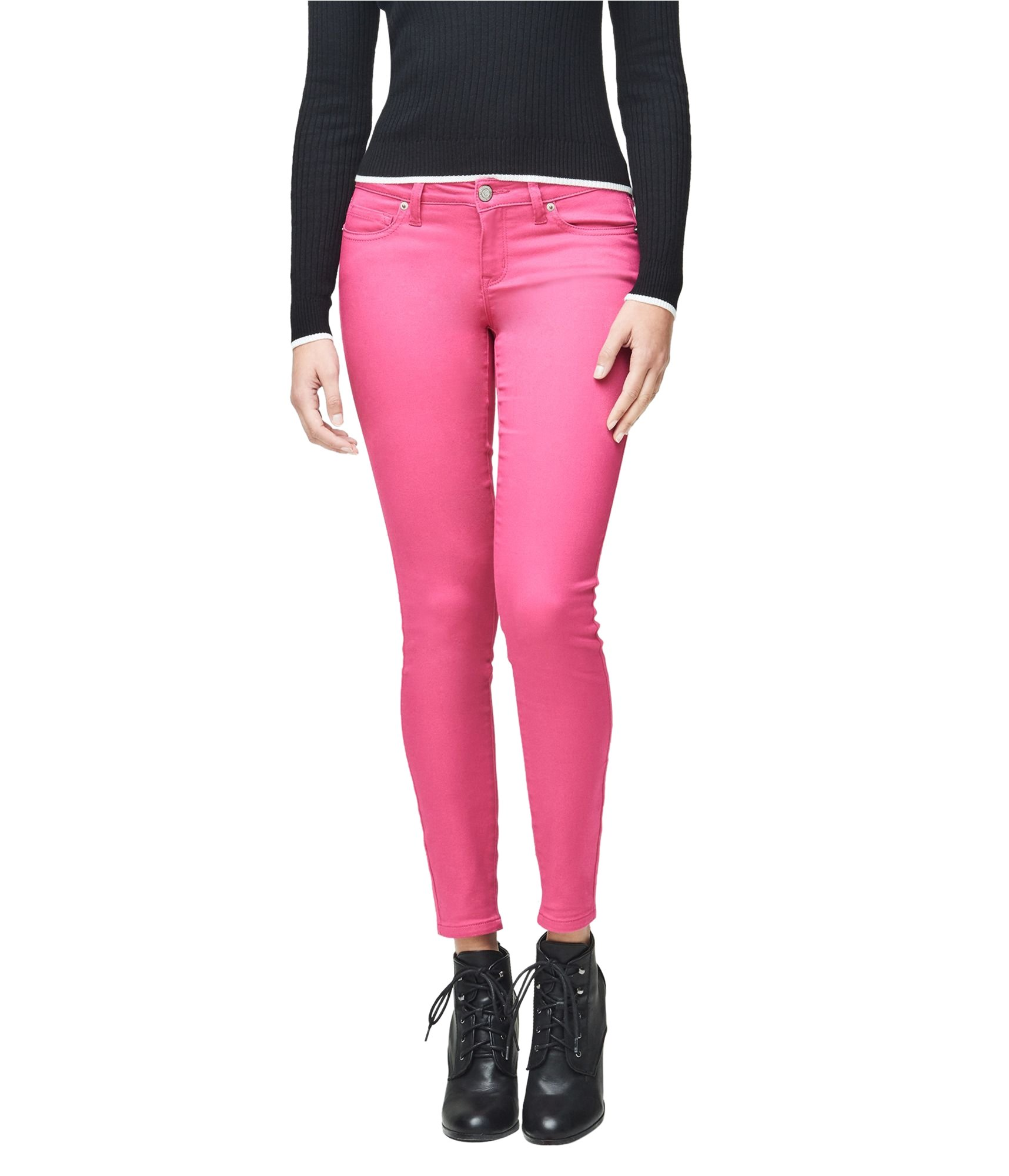 Aeropostale Womens Low-Rise Ankle Casual Leggings Pink 6x27