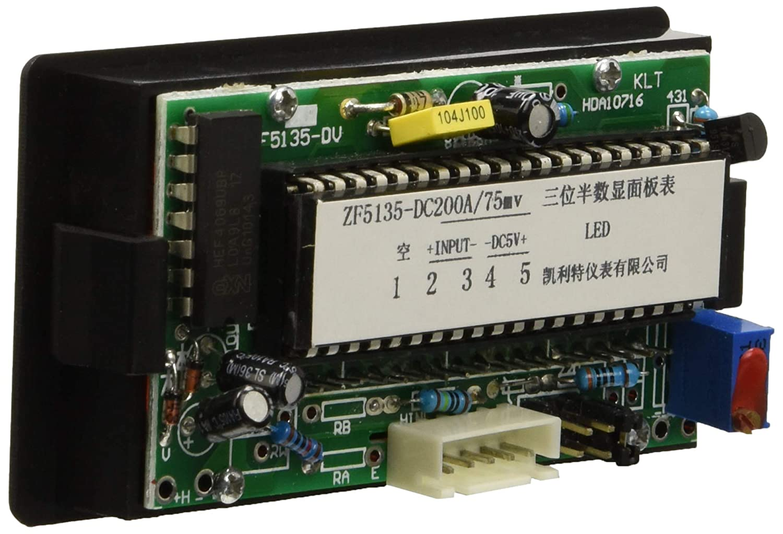 DC 200A 75MV Red 3 1//2 LED Display Ampmeter Panel