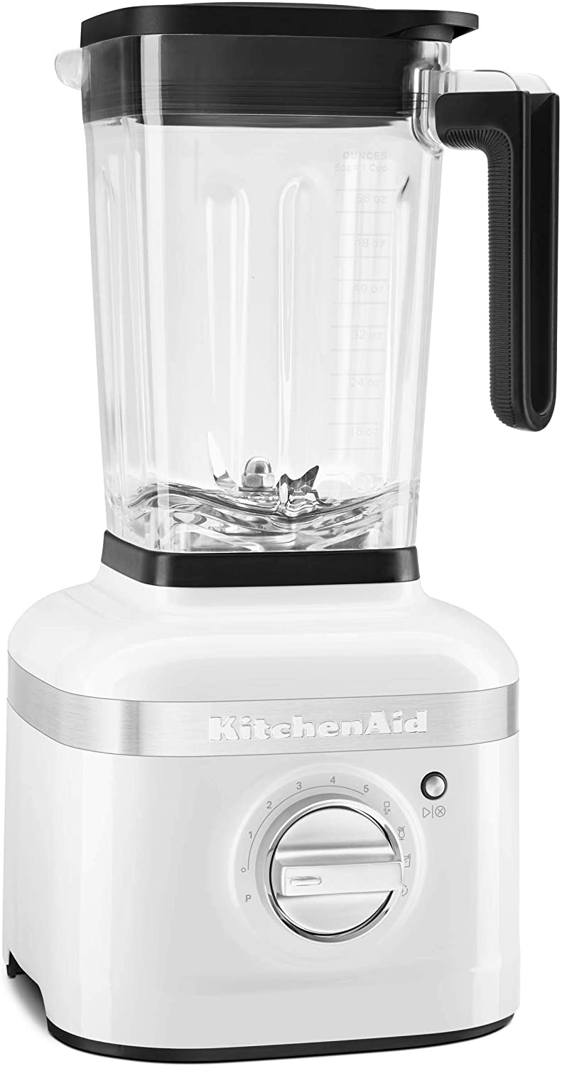 KitchenAid KSB4027WH K400 Countertop Blender, 56 Ounce, White