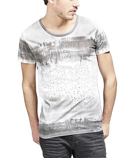 trueprodigy Casual Hombre Marca Camiseta Estampado Ropa Retro Vintage Rock Vestir Moda Cuello Redondo Manga Corta Slim Fit Designer Cool Urban Fashion T-Shirt