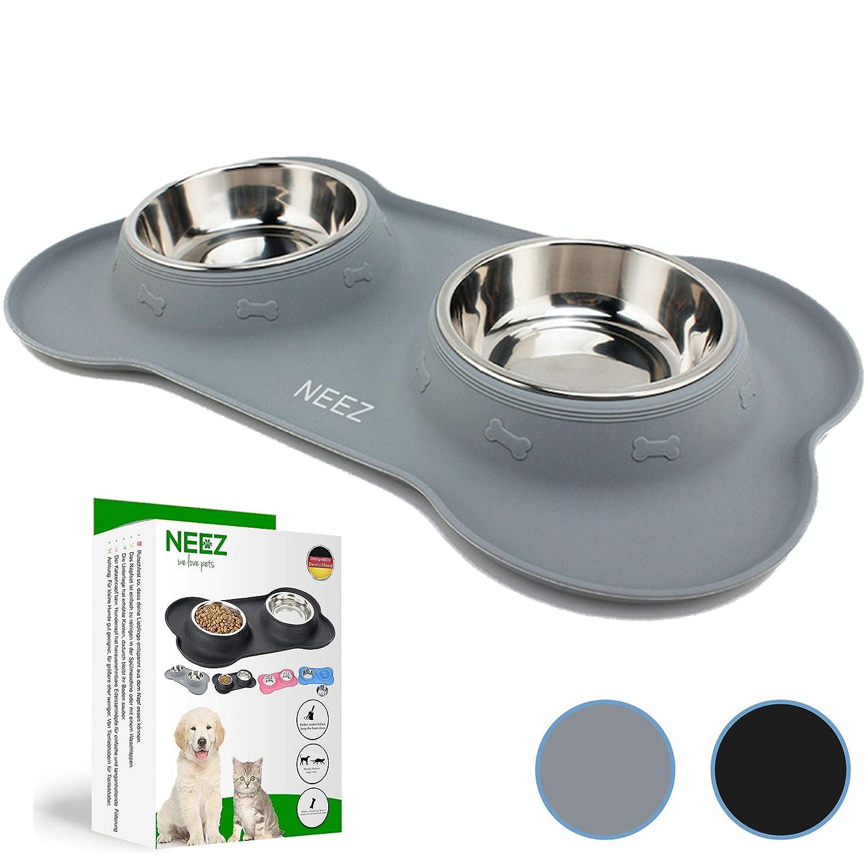 NEEZ Comedero perro Gato bebedero gatos perros (grey): Amazon.es: Productos para mascotas