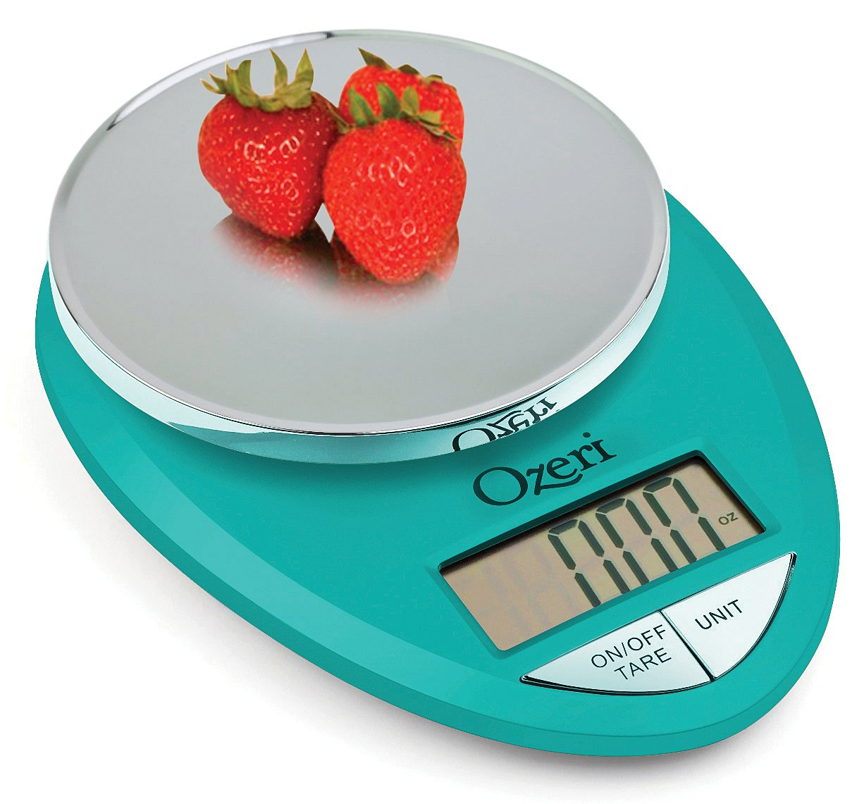 Ozeri ZK12-T Pro Digital Kitchen Food Scale, 1g/12 lb, Teal Blue