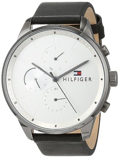 72303354883f Tommy Hilfiger Reloj Multiesfera para Hombre de Cuarzo con Correa en Cuero  1791489