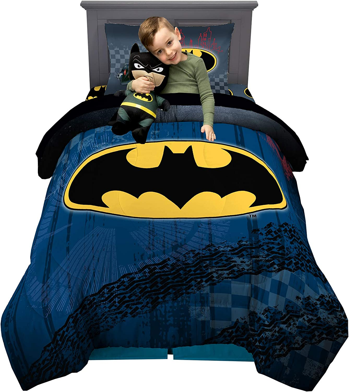 Soft Batman Kids Bed Sheet Set