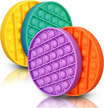 and Play Time Home Office Round Circle Shaped for Office Purple Fidget Push Pop Bubble Toy Stress Reliever for Adults and Kids School