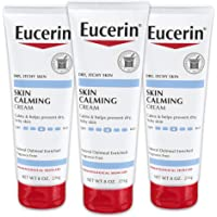 Eucerin Skin Calming Cream - Full Body Lotion for Dry, Itchy Skin, Natural Oatmeal Enriched - 8 oz. Tube (Pack of 3)