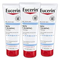 Eucerin Skin Calming Cream - Full Body Lotion for Dry, Itchy Skin, Natural Oatmeal...