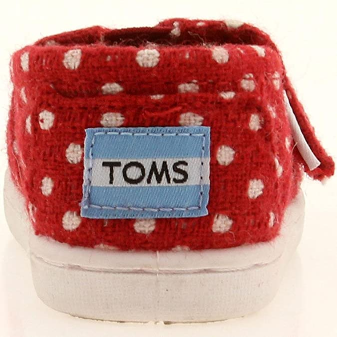 eea965f8bc7 Amazon.com  Toms Red Wool Dot Tiny Classics 10003590-RED (SIZE  10D)  Shoes