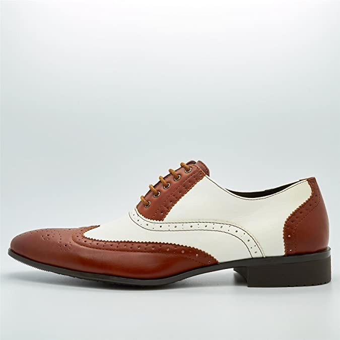 London Footwear Pablo, Oxford Brogue da Uomo, Marrone