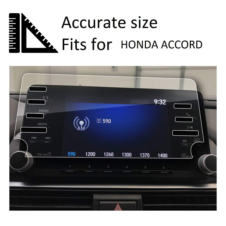 "Wonderfulhz 9H Hardness,Anti Fingerprint,High Definition,Honda 7/"" Car Center Touch Screen Protector 7Holes 2018 2019 Honda Accord Screen Protector,Tempered Glass Screen Protector for Honda Accord"