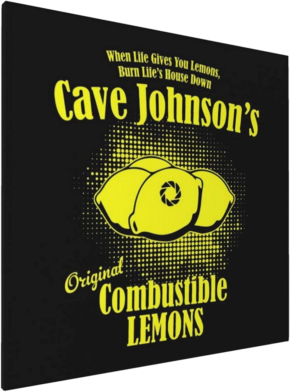1007 Canvas Prints Wall Art Paintings(20x20in) Portal 2 Cave Johnsons Combustible Lemons Pictures Home Office Decor Framed Posters & Prints